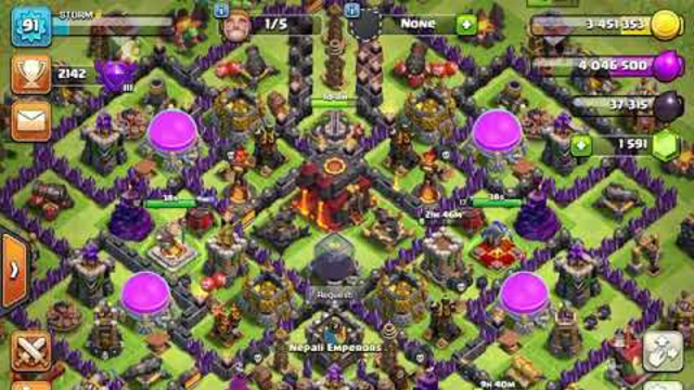 Clash Of Clans Best Farming army (including a attack) | Clash Of Clans | Storm 1493
