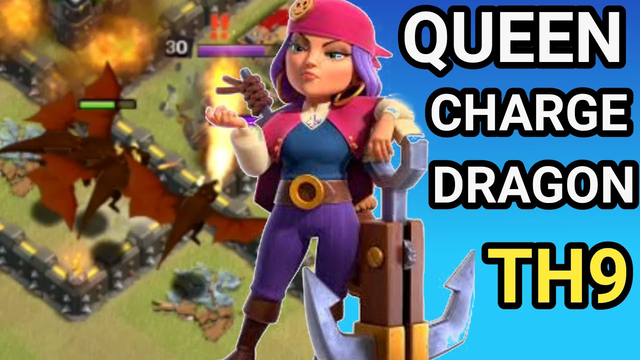 QUEEN CHARGE DRAGON - TH9 BEST WAR ATTACK STRATEGY 2020 | CLASH OF CLANS