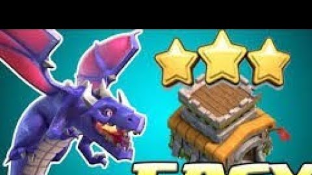 Townhall 8 dragon strategy| air attack |Clash of clans