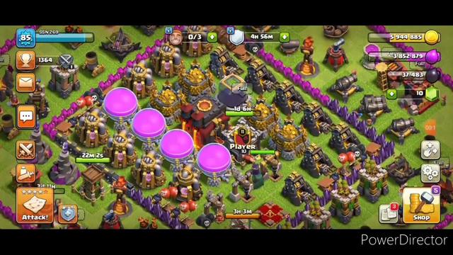 My progress in clash of clans by farming.