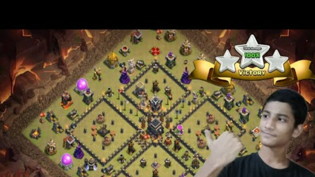 HOW TO TAKE THIS TH9(COMMON) WAR BASE........CLASH OF CLANS
