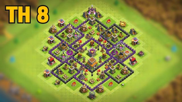 ALDEA ayuntamiento 8 FARMING| TH8 con LINK| Clash of Clans| Xtretme