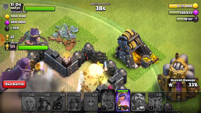 USING 97 MINNIONS SUPER COOL ATTACK OF CLASH OF CLANS
