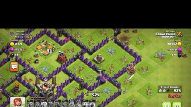 How I attacked on TH9 with 100% destruction in COD || Clash of clans || Karna Kanna #001