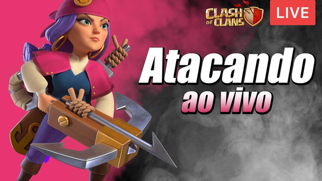 ATACANDO E ANALISANDO AO VIVO NO CLASH OF CLANS
