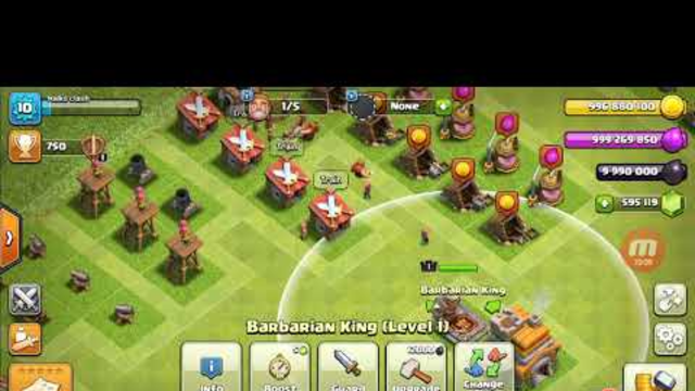 Clash of clans th1 to th13 for 1hr for sharing