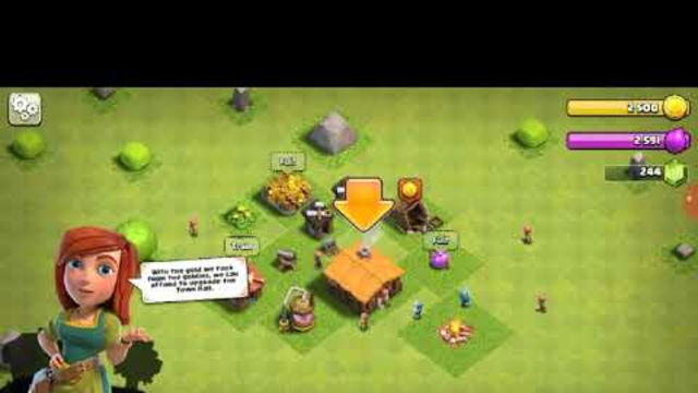 clash of clans gameplay th 1-3 new start