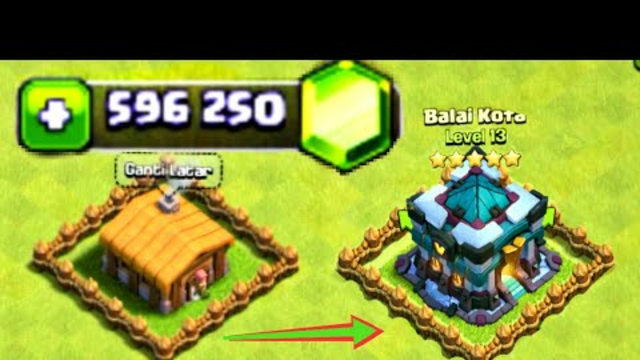 Clash of clans upgrade th1  to th13