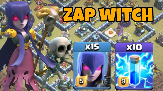 easy but strong! TH13 zap witches attack strategy   easy 3 star TH13 bases   clash of clans