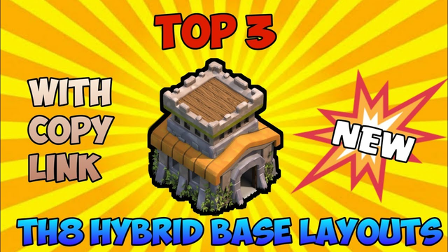TH8 Best Hybrid Base Layouts with 'LINKS' - Clash of Clans | Best Hybrid Bases of TH8 - COC