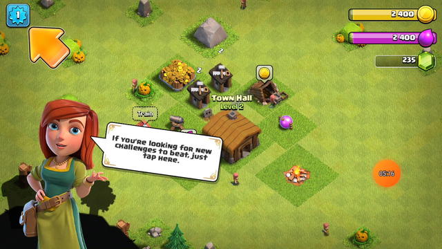 Playing clash of clans #1