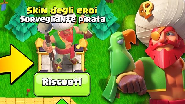FINALLY... NUOVA SKIN PIRATA per SORVEGLIANTE! - Clash of Clans
