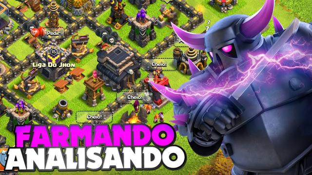 VEM PRA LIVE!! FARMANDO MUITO NA CV9 E ANALISANDO VILAS AO VIVO!! CLASH OF CLANS
