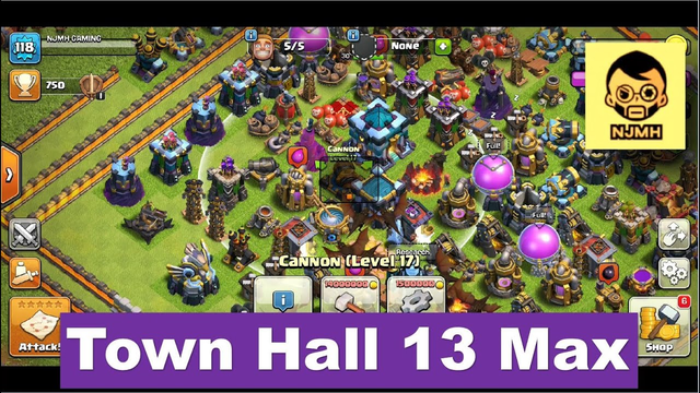 Clash of Clans - Town Hall 1 to 13 (5 Stars Max) | Upgradation