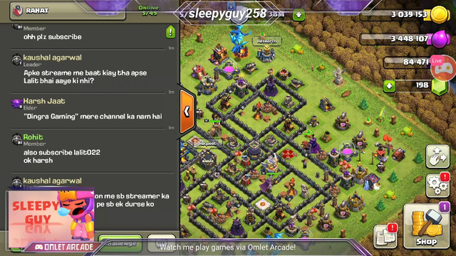 lets visit your base clash of clans gaming with sleepy guy