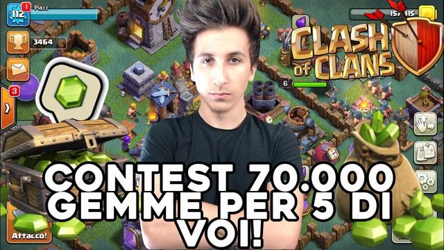 CONTEST 70.000 GEMME PER 5 DI VOI! 3500 COPPE in LIVE | Clash of Clans ITA