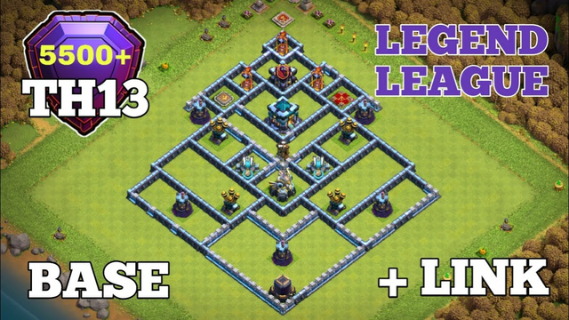 'BASE LINK' Th13 Legend League Base Link with Difence Replay 2020 Oct! Clash of Clans