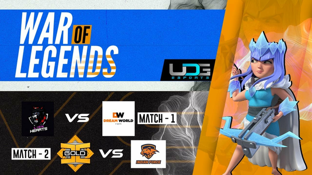 #uDGEsports | COC Match 1 - Lion's heart vs Dream world | Match 2 - Ic gold vs Indian force