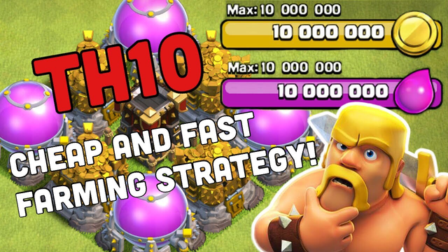 Clash of Clans | TH10 Farming Attack Strategy | Cheap, Easy and Fast Farming Attack Strategy BARCH??