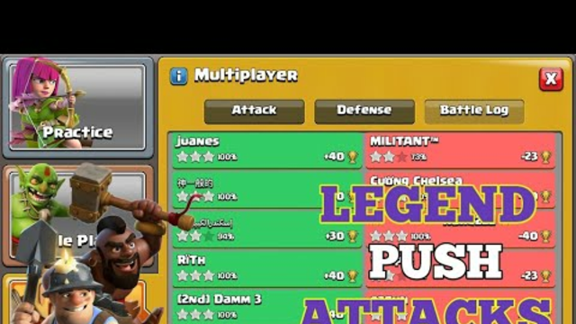 'HYBRID OP' Legend League Push Attacks! Best Th13 Attack Strategy - Clash of Clans