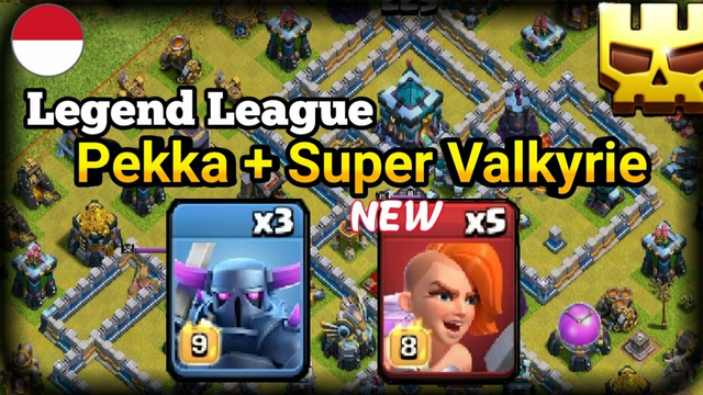 """New SUPER VALKYRIE! """"Pekka + super valkrye"""" th13 legend league attack strategy 