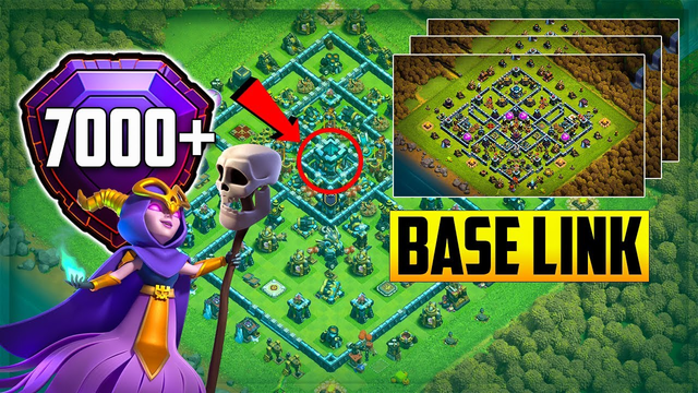 TH13 Base for Legend League Trophy Pushing || Th13 Top 6 Trophy Base Link Anti 3 Star Bases || COC