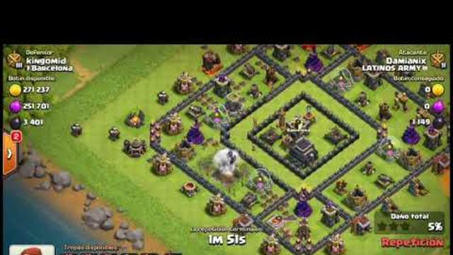 Ejercito de farming con globos de esqueleto clash of clans #1