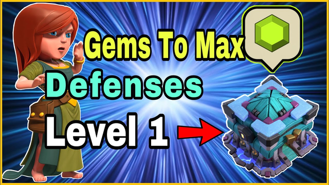 GEM TO MAX! Defenses level 1 to max Town hall 13 Clash of Clans update