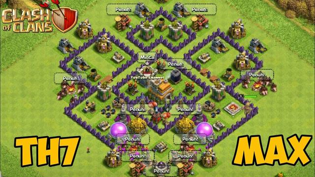 TH7 100% MAX   Clash Of Clans Indonesia