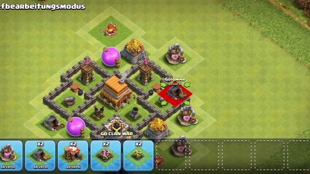 Best TH4 BASE in Clash Of Clans