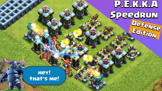 Max Level P.E.K.K.A Speedrun | Defense Edition | Clash of Clans