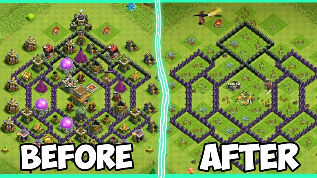 TH7 Attack TH8 Max Defense With 3 Stars | Clash Of Clans Indonesia