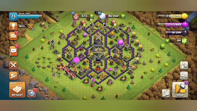 Clash Of Clans/Builder base attack/Village/Army/Town Hall 9/Rush