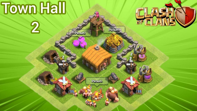 Base TH 2 Terkuat 2020|||clash of clans