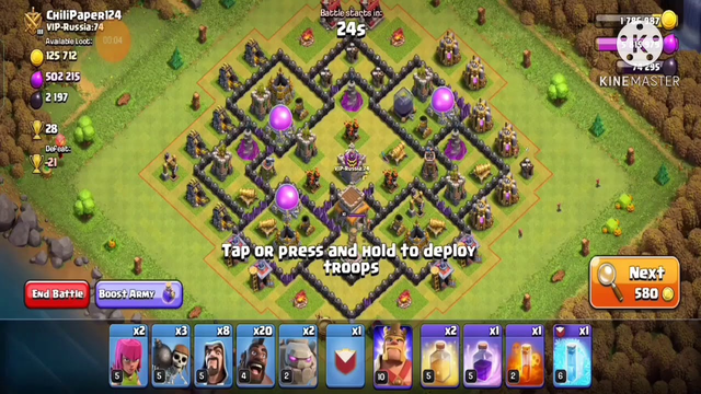 Clash of clans townhall 8 hogs attack strategy