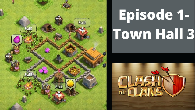 Clash of Clans #1 - Town Hall 3 !!!