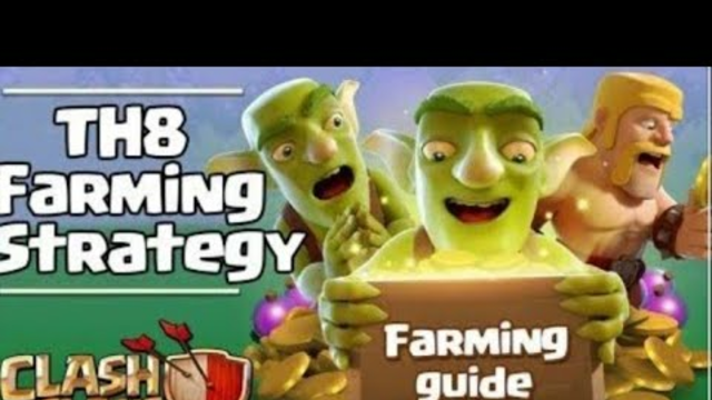 Th8 farming attack strategy without spell in (clash of clans)