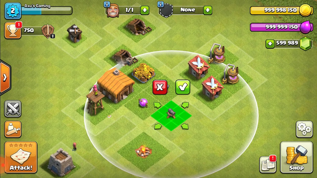 Clash of clans town hall 2 max gameplay / Axu's Gaming /Episode 1