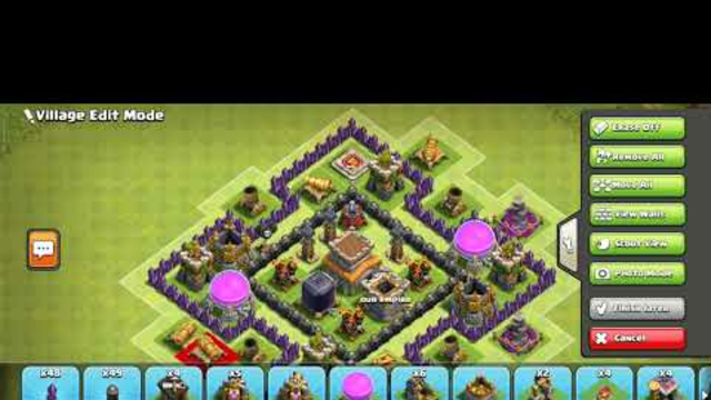 town hall 8  best farming and war base         clash of clans