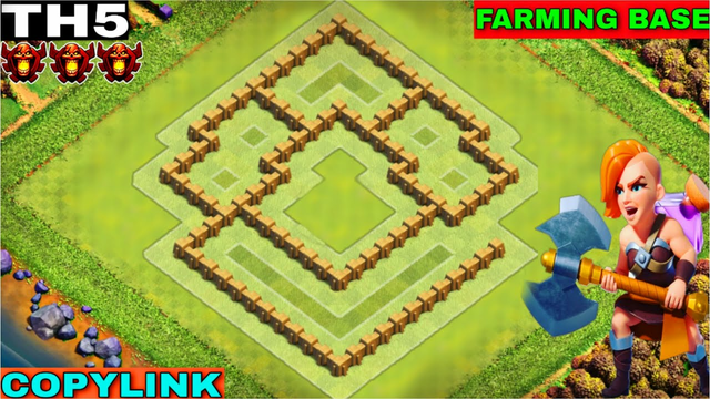 Best Th5 Farming Base | Farming Base With Copy Link | Town Hall 5 Base Link | Clash Of Clans | Coc
