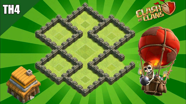 BASE TH 4 TERKUAT 2020 TROPHY - WAR - DEFENSE | clash of clans