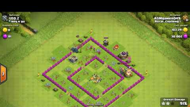 Th8 best attacking strategy with out Golem & valkery ASMgaming04  (COC) clash of clans