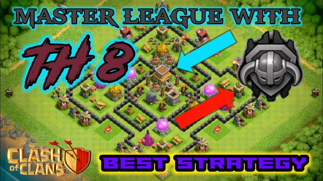 MASTER LEAGUE WITH TH 8    BEST STRATEGY    COC.... CLASH OF CLANS    AZ CLASHER   