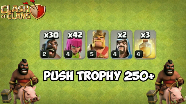 Push Trophy 250+ With Hog Rider on TH7 | Clash Of Clans Indonesia