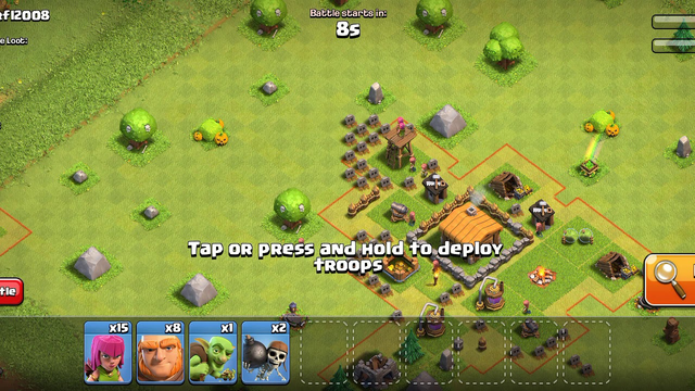 Clash Of Clans(Town hall 3) live match video..