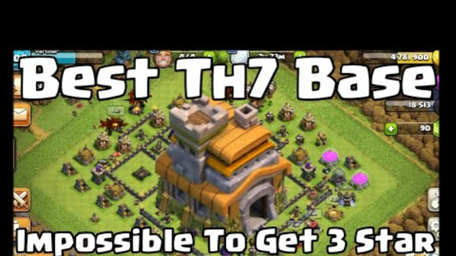Best Th7 Base Impossible To Get 3 Star // Clash Of Clans // Technot Gaming