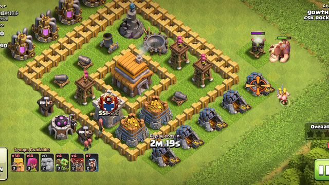 Clash of clans mass attak in town hall 5