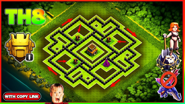 NEW Ultimate TH8 HYBRID/TROPHY Base 2020!! COC Town Hall 8 (TH8) Trophy Base Design - Clash of Clans