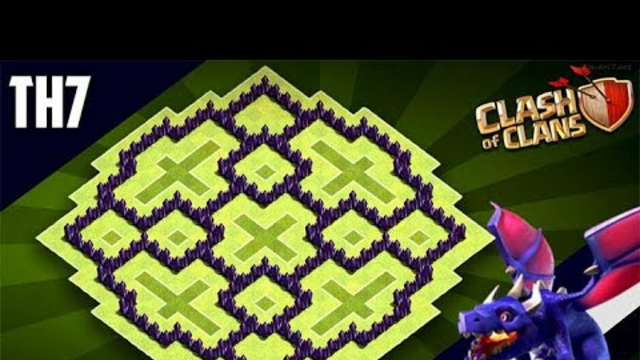 New Ultimate TH7 HYBRID/TROPHY [defence] Base 2020!! Town Hall 7 Hybrid Base Design - Clash of Clans