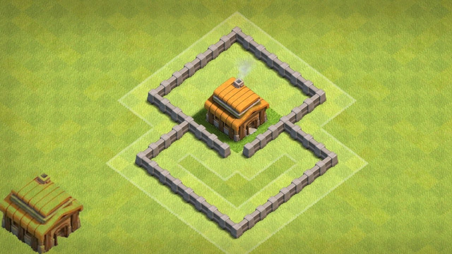 Clash of Clans New Town Hall 3 Hybrid Base #2
